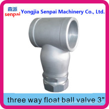 Three Way Float Ball Valve/Y-Bent Float valve