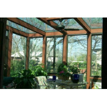 3d Wood Grain Single, Double Glass Sunrooms With 3d Wood Grain Surface Treatment