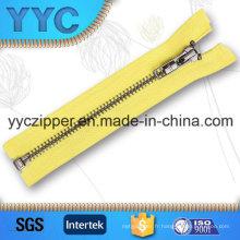 YYC Auto Lock O / E Dents régulières Brass Metal Zipper