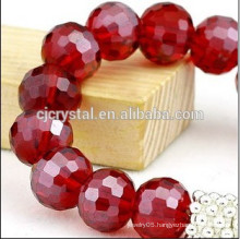 cheap high quality round glass beads Jewelry accessory finding