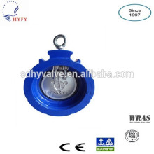 single plate/disc cast iron sewage check valve