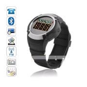 Hot Man's Black Music Handfree Bluetooth Wrist Watch Phone MQ222