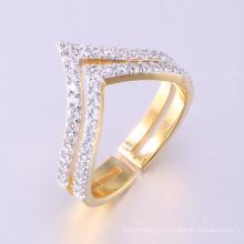 Mais recente anel de dedo de ouro projeta moda 18 jóias de ouro de luxo grande anel de pedra das mulheres