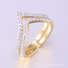последний золотой палец кольцо дизайн мода 18 золото ювелирные изделия роскошь Большой Камень женщин кольцо