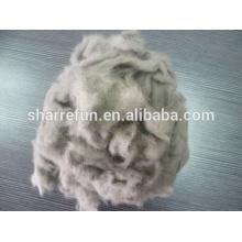 Fabricante de lana de visón Dehaired, fibra de lana de visón 14.5mic / 10mm para la venta
