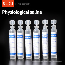 CE genehmigt 0,9% NS 15 ml unabhängige Verpackung physiologische normale Kochsalzlösung