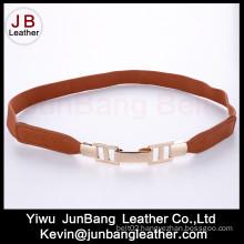 Fashion Ladies Elastic Waist PU Leather Woman Belt