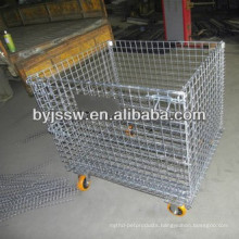 Folding Steel Wire Mesh Pallets Container