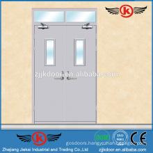 JK-F9009 fireproof steel security door of and factory price/fire door release
