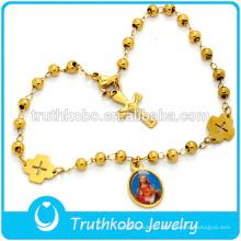 Bracelet de charme en Vierge Marie plaqué or de haute qualité, bracelet tissé sur mesure Bracelet de la Vierge Marie