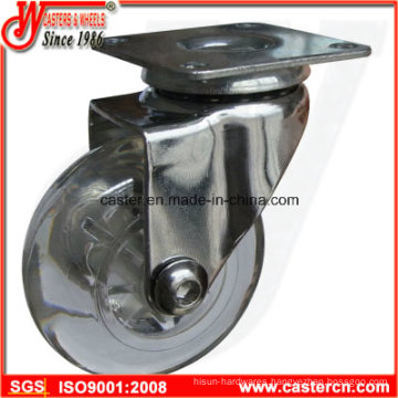 3 Inch Top Grade Furniture Caster with Diaphaneity TPU Wheel