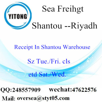 Shantou Port LCL Consolidation To Riyadh