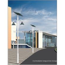 Solar metal poles for lighting