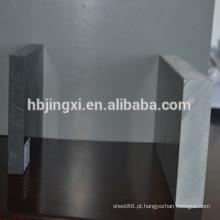 Folha rígida de plástico PVC cinza