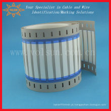 Manga de rotulagem de fio termorretrátil de identificação permanente