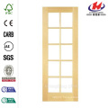 48 in. x 80 in. Smooth 10 Lite Solid Core Primed Pine Prehung Interior French Door