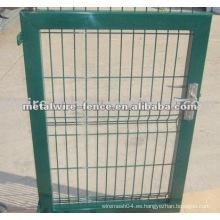 De alta calidad galvanizado entonces pvc recubierto puerta de la cerca