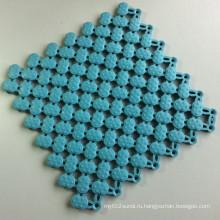 УФ-излучению мягкого винила блокируя плитки влажной области Циновка пастель синий