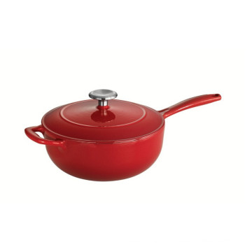 Color Enameled Cast Iron Covered Saucier