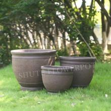 Outdoor Plant Container Cement Garden Flower Pots