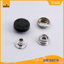 Botones rápidos BM10807 del casquillo de nylon del logotipo de encargo