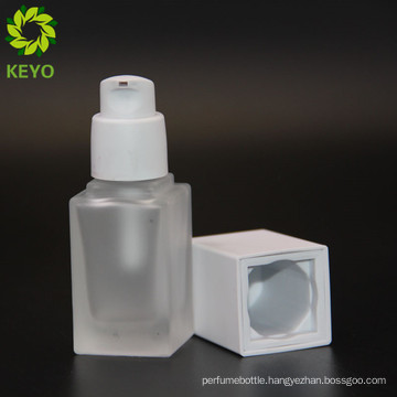 Square shape frosted 15 ml glass bottle lotion caps twist diffuser bottle stopper for container