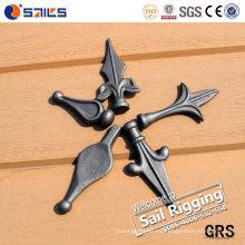 Puntas de lanza de acero de fundición ornamental y remates