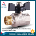 brass ball valve Single union 15mm/20mm/25mm pipe cock with aluminum T handle CE approved