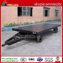 Two-Axle Flatbed Container Draw Bar Truck Trailer with Bogie Axle