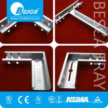 La goulotte de câble galvanisée par acier inoxydable galvanisée par GI extérieure d'acier inoxydable avec la taille standard de couverture