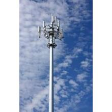 10 Years for Communication Pole 30M Cell Tower and Antenna Slip joint export to Qatar Factory