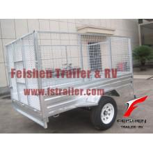 Рампа прицепа клетке / cage трейлер с рампой (горячее цинкование)