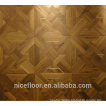 Layered solid wood parquet flooring N1068 BLACK WALNUT PARQUET FLOOR OAK