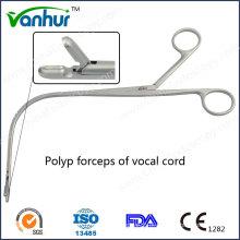Instrumentos de garganta Pinças de polímero do cordão vocal