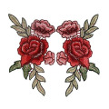 Chinese Peony Flower Applique Embroidered Patches