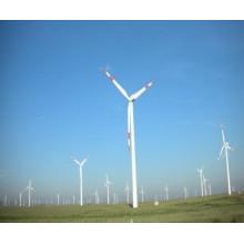 Postes de acero de tres baldes generador de energía eólica