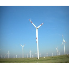 Steel Poles of Three Baldes Wind Power Generator