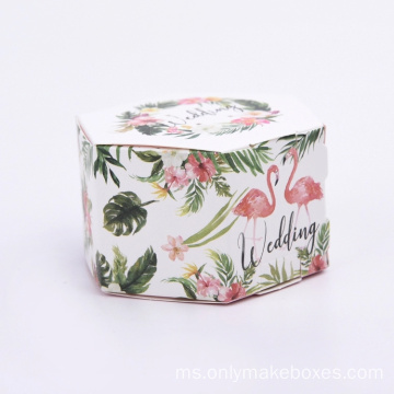 Mewah Hexagon Bentuk Flamingo Paper Gift Paper Box