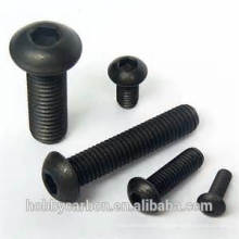 High strength qualified titanium bolt M3 standard hex anodized titanium bolts with base color