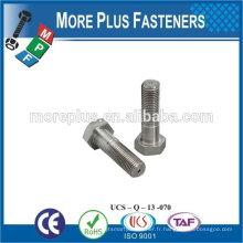 Fabriqué à Taiwan en acier inoxydable en acier inoxydable boulon hexagonal boulon hexagonal