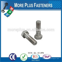 Made in Taiwan high quality stainless steel hex head bolt hexagon bolt