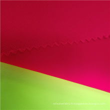Tissu extensible en polyester Dobby haute visibilité