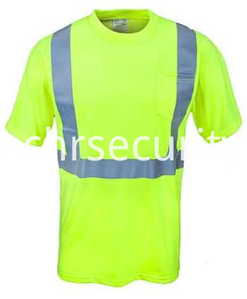 Men's Yellow High Visibility Class 2 Work Shirt (1)