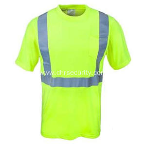 Men's Yellow High Visibility Work Shirt