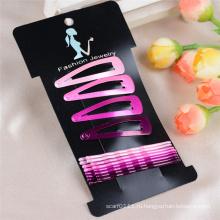 12 карт штук Упакованные металлический штырь волос аксессуары клип (JE1032)