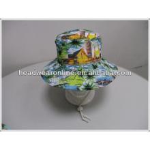 Neuer Entwurf Kundenspezifischer Sublimationsdruckenwannenhut / gedruckte Eimerkappe