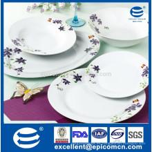 2015 nuevos productos 20pcs cerámica de cerámica portugués conjunto para 6 persona diseño púrpura cena real conjunto