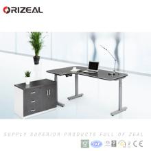 Автоматическое отделение двойного мебели приводом от двигателя электрический высота регулируемый рабочий стол с подъемной колонной