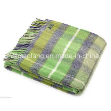 Manta de viaje de lana fina Merino puro (NMQ-TWT008)