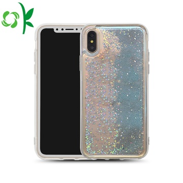 Glitter Liquid Bling Quicksand Bluelight Plastic Phone Case